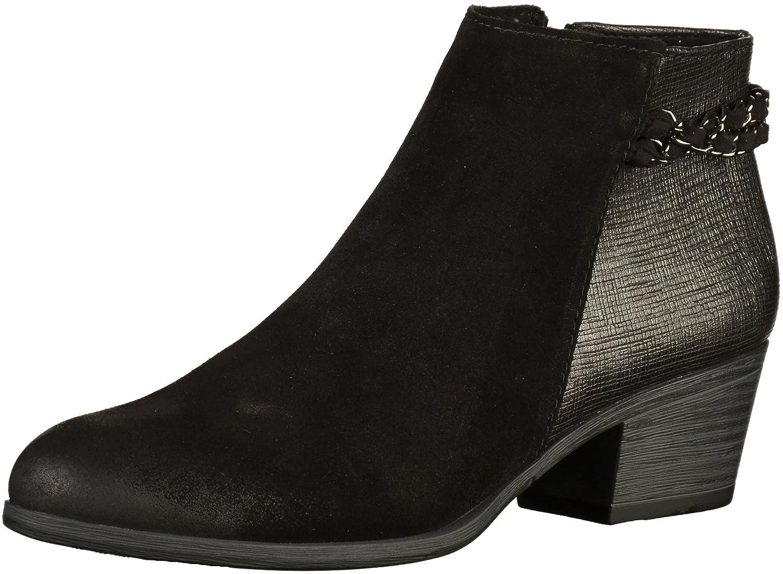 Kette Combi schwarz EU 38 Ankle Stiefel Heel Block Detail