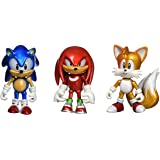 """Sonic the Hedgehog T22050 3-Inch """"25th Anniversary"""" Action Figure with Collectable Coins/Sonic/Knuckles and Tails"""