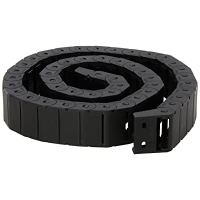 15mm x 30mm Black Plastic Semi Closed Drag Chain Cable Carrier 1M: Home Improvement