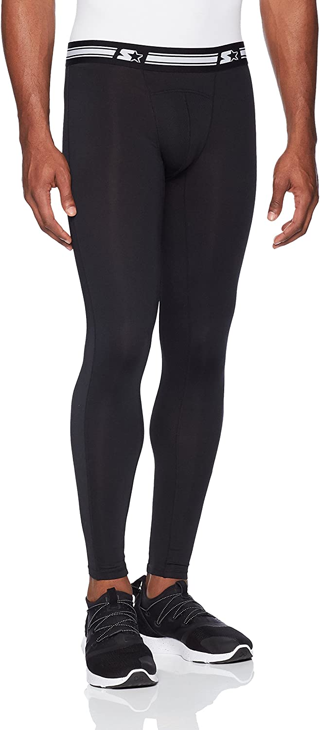 "Starter Men's 28"" Athletic Light-Compression Leggings, Amazon Exclusive"
