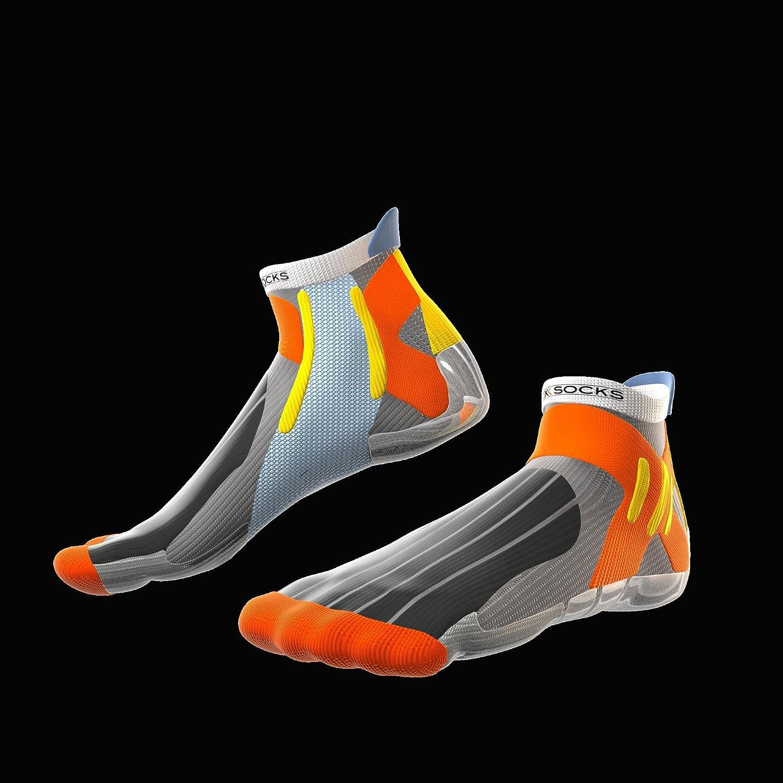 X-Bionic Men/'s 76925 Biking Silver Socks