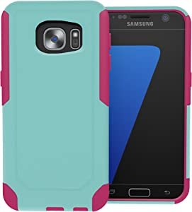 Galaxy S7 Case, ToughBox [Commute Series] [ Shockproof ] [ Slim ] [ Rugged ] [ Turquoise | Pink ] for Samsung Galaxy S7 Case [Fits OtterBox Defender & Commuter Series Clip]