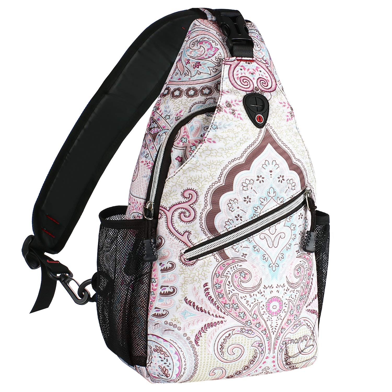 MOSISO Sling Backpack, Multipurpose Crossbody Shoulder Bag Travel Hiking Daypack, National Style