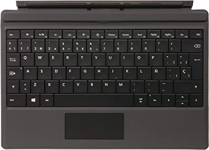 Microsoft GV7-00044 - Teclado de cubierta tipo para Surface 3, Español Qwerty, Negro