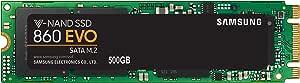 Samsung SSD 860 EVO 500GB, MZ-N6E500BW, V-NAND, M.2 (2280), SATA III 6GB/s, R/W(Max) 550MB/s/520MB/s, 98K/90K IOPS, 300TBW