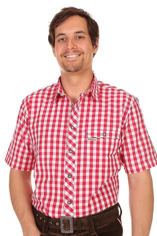 Spieth & Wensky Herren Hemd kurzarm Wolfach rot