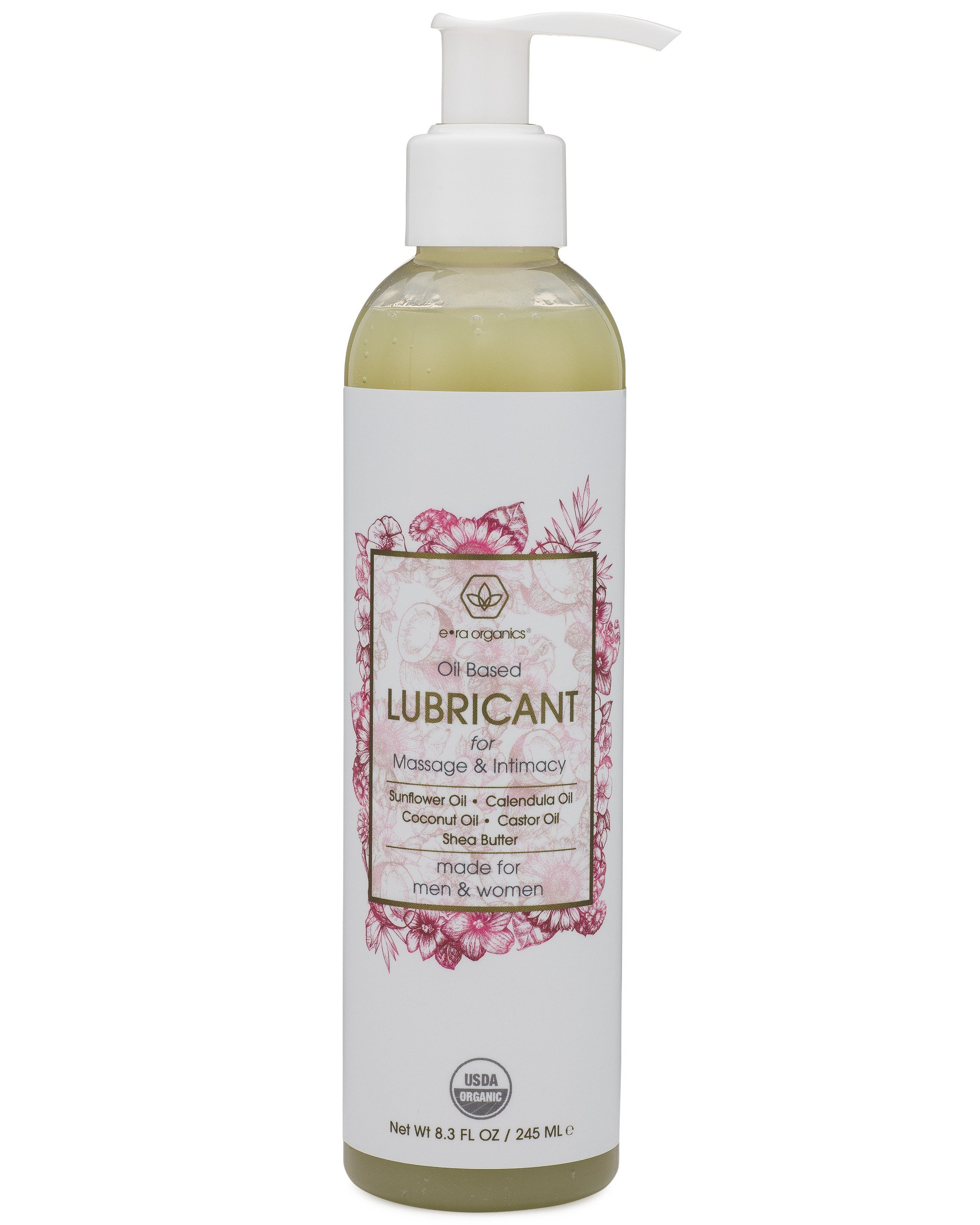 Organic Personal Lubricant & Massage Oil – Natural Lube For Men and Women With Extra Nourishing, Hydrating, Soothing Ingredients. Edible, Non Toxic, Paraben Free Formula.