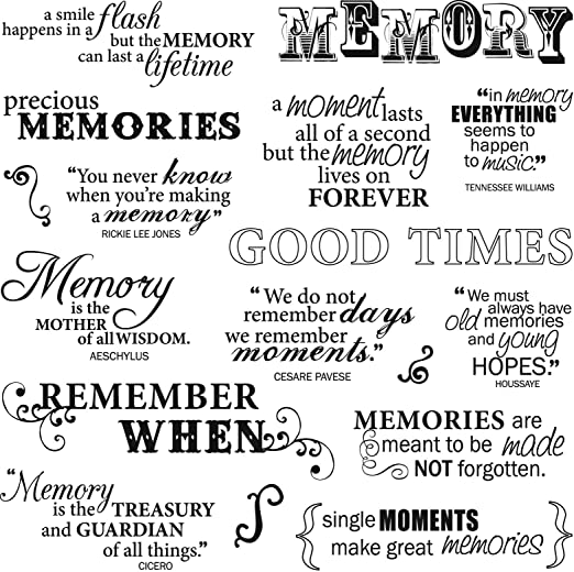Fiskars 8 Inch By 8 Inch Quote Clear Stamps Good Times Amazonca