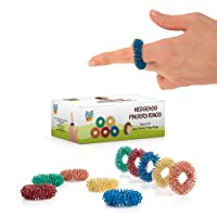 Stress Relief Fidget Sensory Toys Set –10 Small Quiet Metal Antistress Fingers Rings...