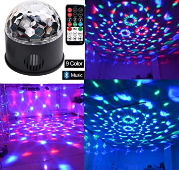 bluetooth speaker lights dj party light disco lights 9 colours 9w