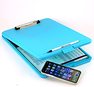 Adorox Letter Size Slim-case Storage Clipboard Teal Plastic Storage Clipboard for Students, Teachers, Sales, Utility, Industrial, Office Professional (Teal))