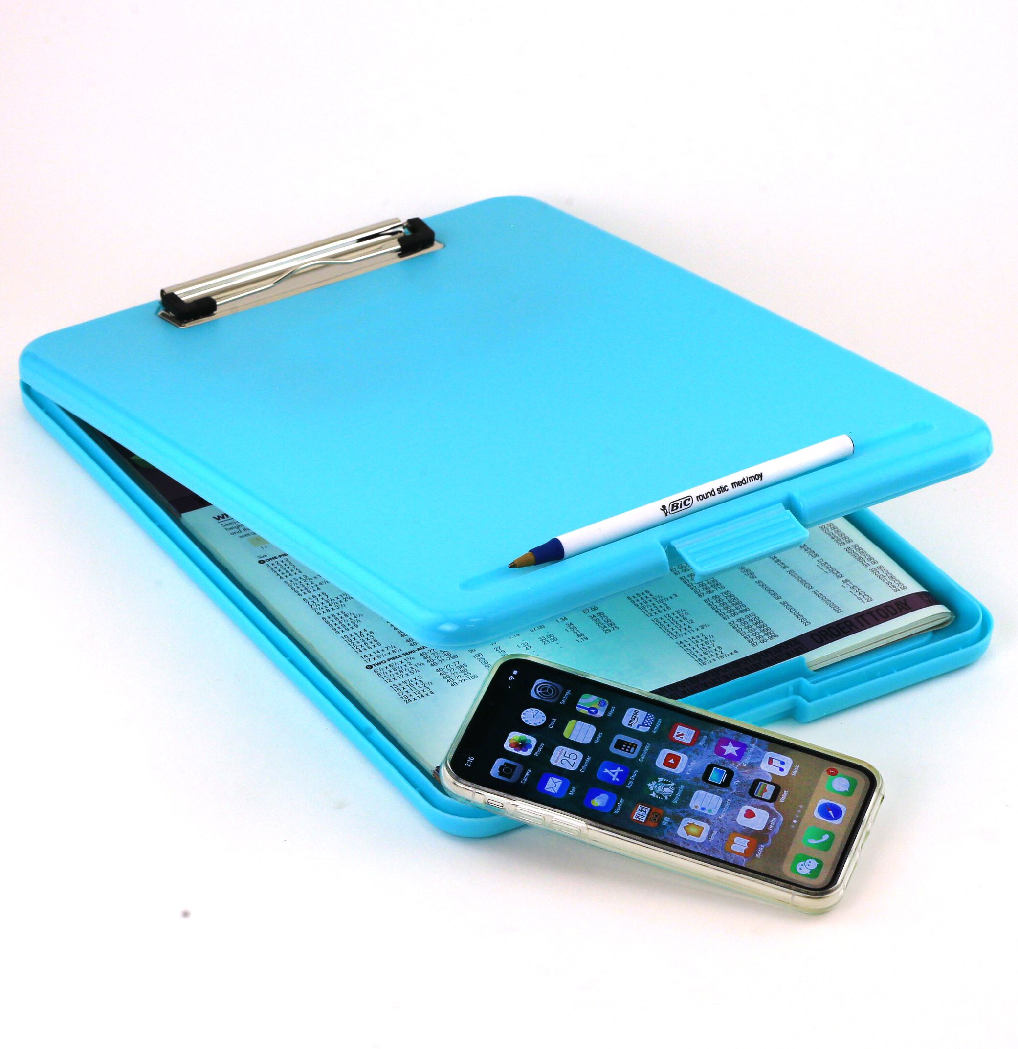 Adorox Letter Size Slim-case Storage Clipboard Teal Plastic Storage Clipboard for Students, Teachers, Sales, Utility, Industrial, Office Professional (Teal)) by Adorox
