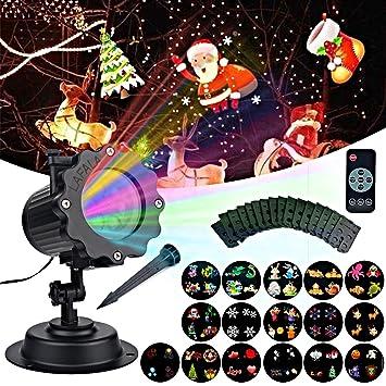 lafala christmas lights projector 2017 light projector 16pcs pattern slide laser led flood projector landscape - Christmas Light Remote Control