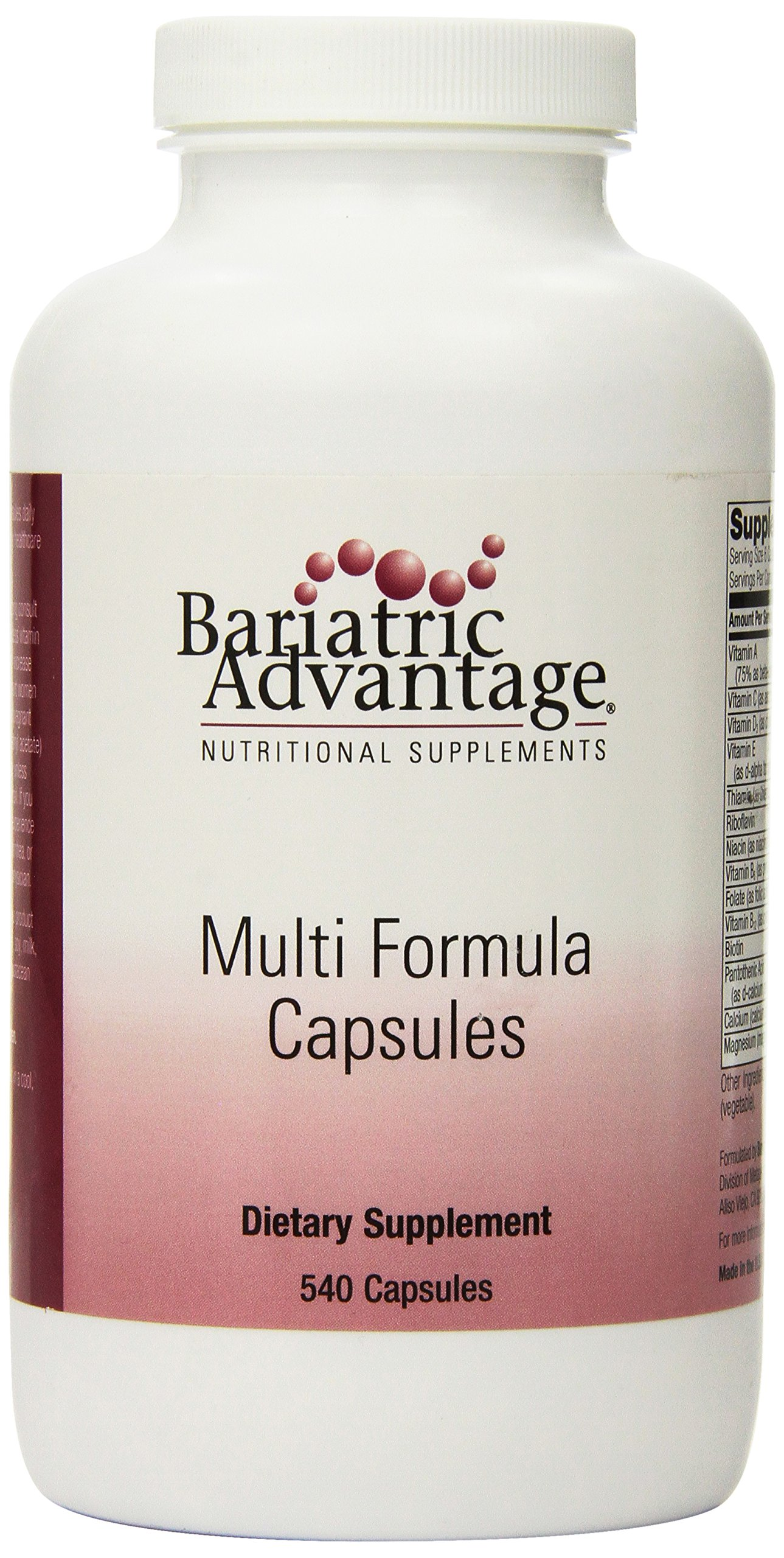 Bariatric Advantage - Multi-Form Capsules, 540 Count