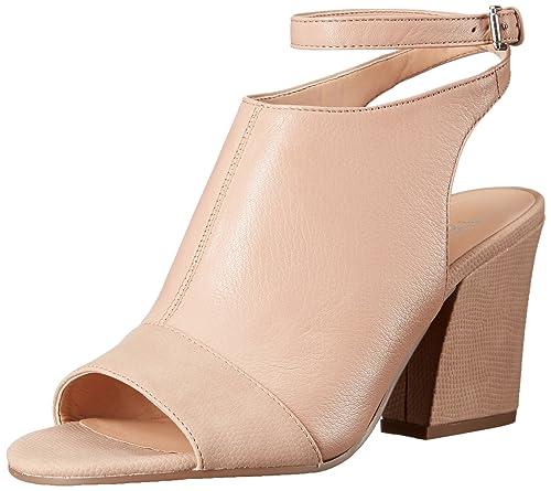 Franco Sarto Womens Francesca Heeled Sandal, Soft Beige, 5.5 Medium US