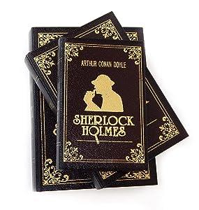 Bellaa 25952 Flux Leather Book Box Secret Stash Sherlock Holmes Set of 3