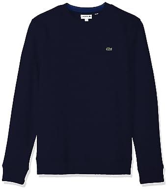 b6d2585f2 Lacoste Men s Fleece Sweatshirt with Green Croc-Contrast Details at ...