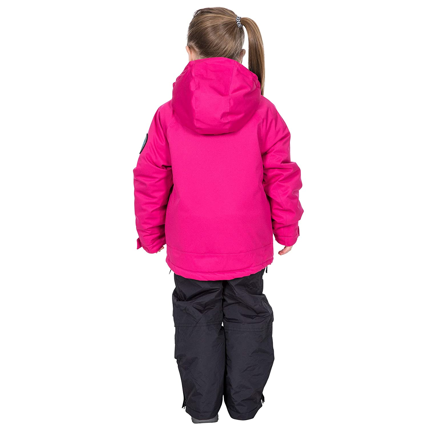 Goggle Pocket /& Ski Pass Sleeve Pocket Trespass Childrens Luwin Waterproof Ski Jacket With Recco Avalance Rescue System Removable Hood
