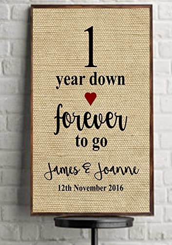 1st First Wedding Anniversary Gift Paper Anniversary Natural