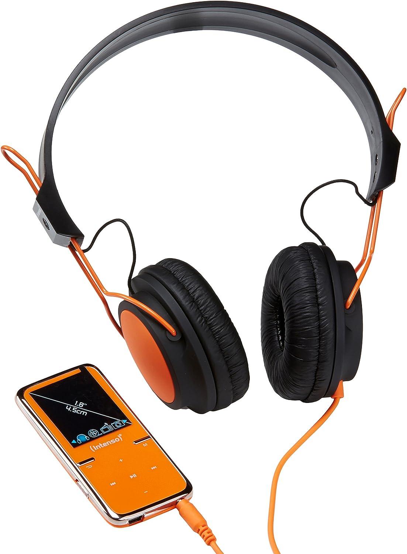 inkl Intenso Video Scooter MP3-Videoplayer 1,8 Zoll 4,5 cm Display 8GB micro SD-HC Karte//On-Ear Kopfh/örer blau