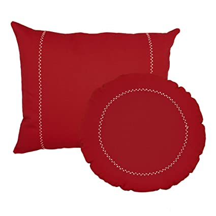 amazon com roomcraft bright red round and rectangle pillows solid