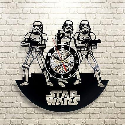 Amazon.com: Stormtrooper Star Wars Arte Vinyl Record reloj ...