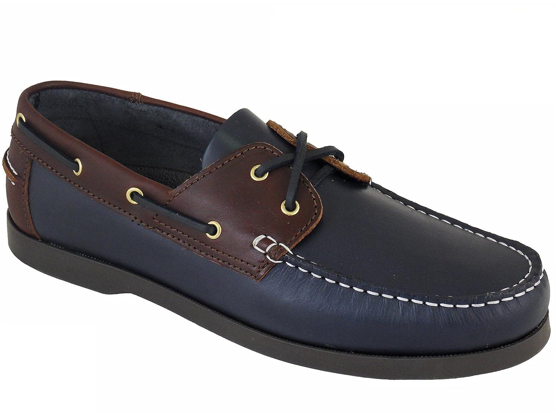 Beppi Portugiesisch Herren Leder Bootsschuhe Marineblau/Braun  44 EU