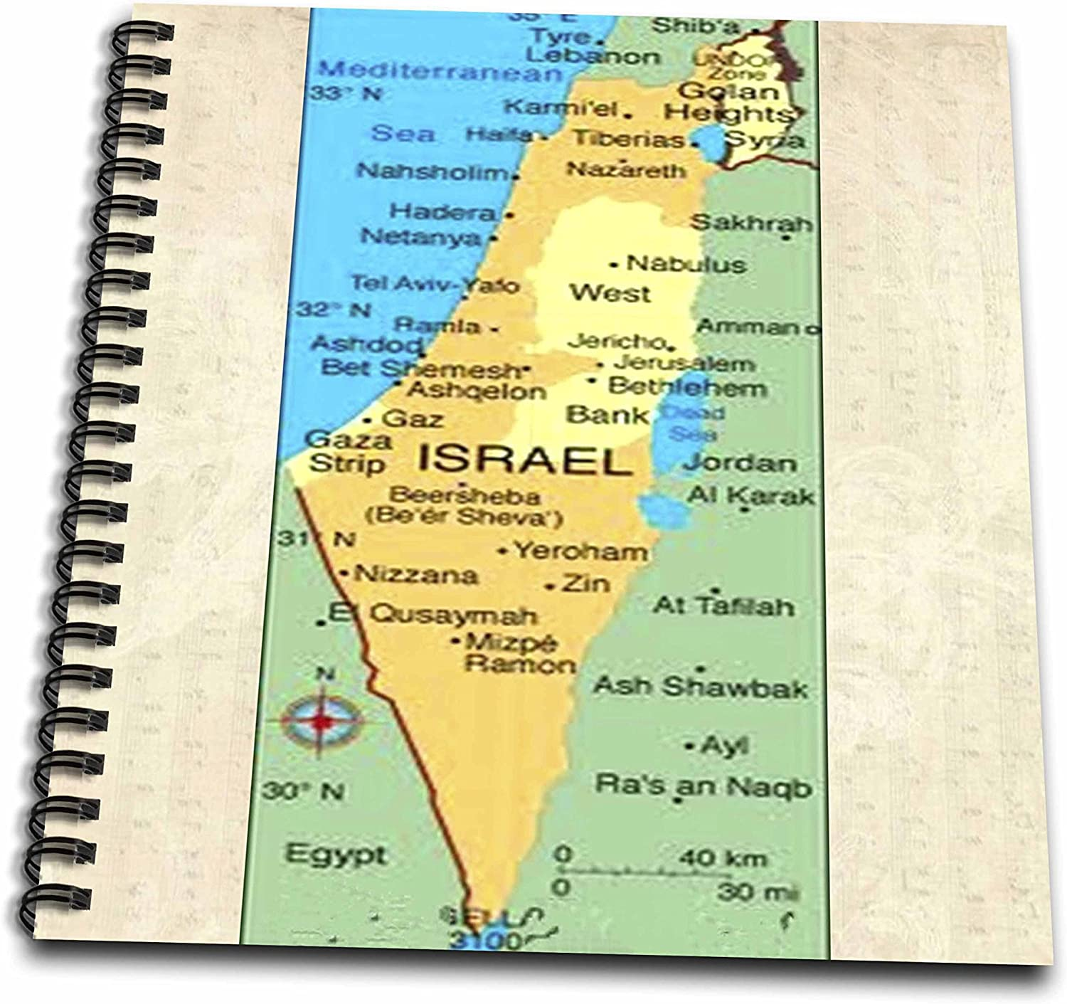 Amazon Com 3drose Db 40758 2 Map Of Israel Memory Book 12 By 12