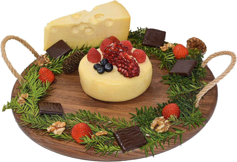Merritt Walnut Wood Melamine Cheese Board with Handle