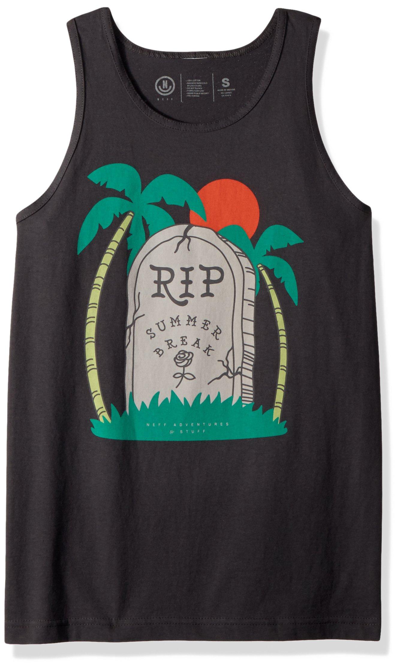 NEFF Men's Boogie Tank Top-Summer Shirts Women, Charcoal, M