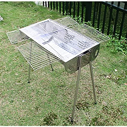Attirant AGPTEK BBQ Charcoal Grill Stand Table Portable Foldable Barbecue Stainless  Steel Outdoor Campin, Black