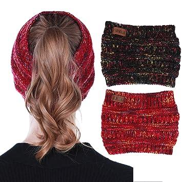 Damen Trend  Stirnband Ohrwärmer Kopfband Damen Winter Strick Haarschmuck