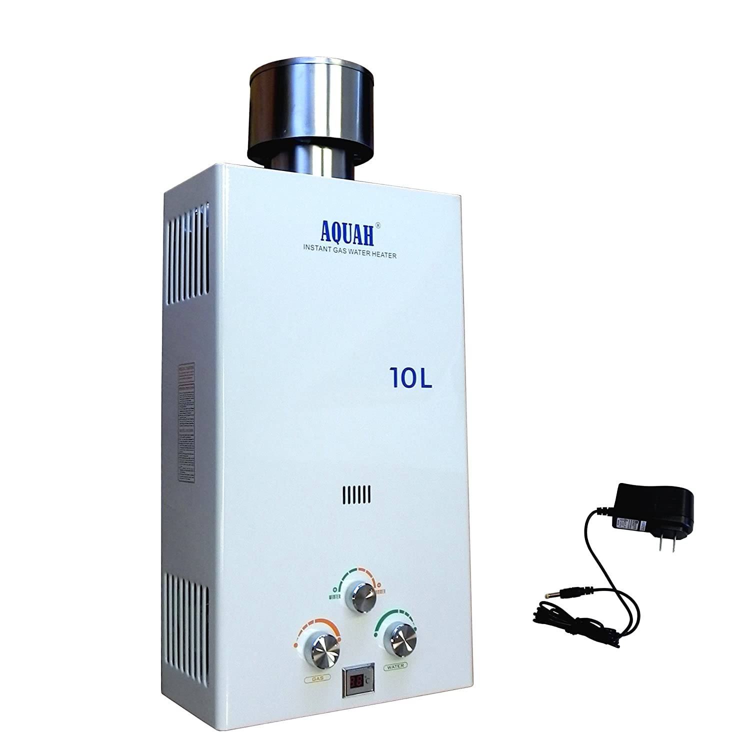 Battery Operated Water Heater Aquah Outdoor Liquid Propane Gas Tankless Water Heater 10 L 27