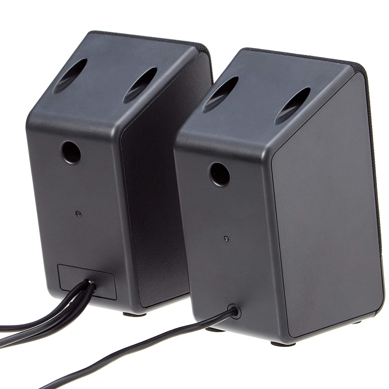 US Version AC-Powered Basics Computer Speakers for Desktop or Laptop