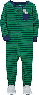 Carter's Baby Boys Sleep and Play Footed Sleeper Pajamas Dinosaur in The Pocket