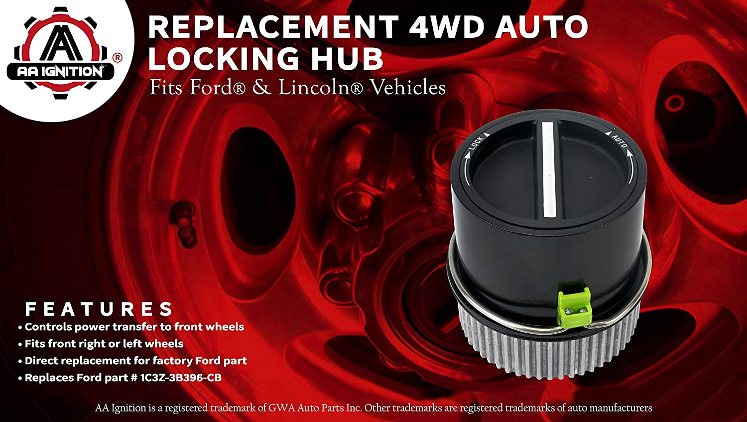 F550 Super Duty 1C3Z-3B396-CB 1C3Z3B396CB 4WD Auto Locking Hub Link Front Left or Right Navigator Replaces# 2000-2005 Excursion 2001-2002 Expedition F350 Fits 1999-2004 Ford F250 F450