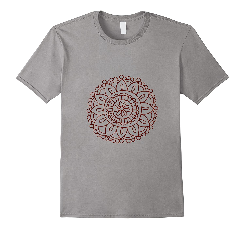 Yoga Shirts Co Mandala Yoga Boho Relaxed Fit T-Shirt-TD
