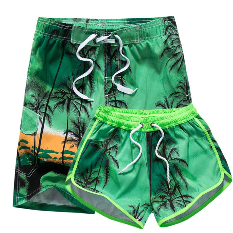 Albina Collins Couple Swimwear Board Shorts Women Mens Boardshorts Bermuda Surf Swimming Shorts Swim Trunks