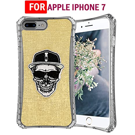 Chevron Apple iPhone 7 Plus Back Cover Case [Embroidery GoClassic Shock Proof Case]   Skull Mobile Accessories