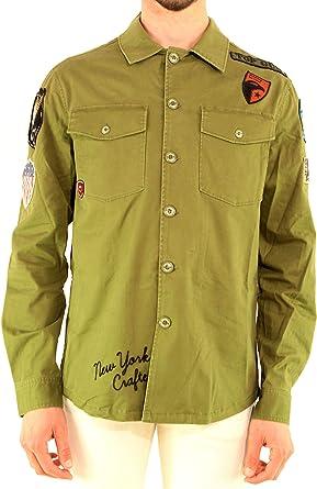 Top Gun - Camisa para Hombre, Mod. Camisa Verde TGR1902-MILITARY 146 Verde Verde 42: Amazon.es: Ropa y accesorios