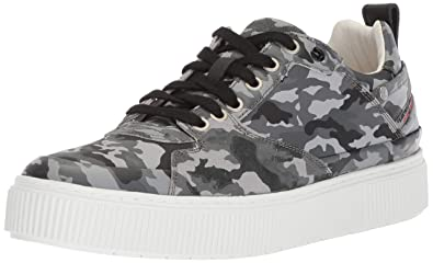Diesel Mens S-Danny LC Camou-Sneakers, Camouflage Black, ...