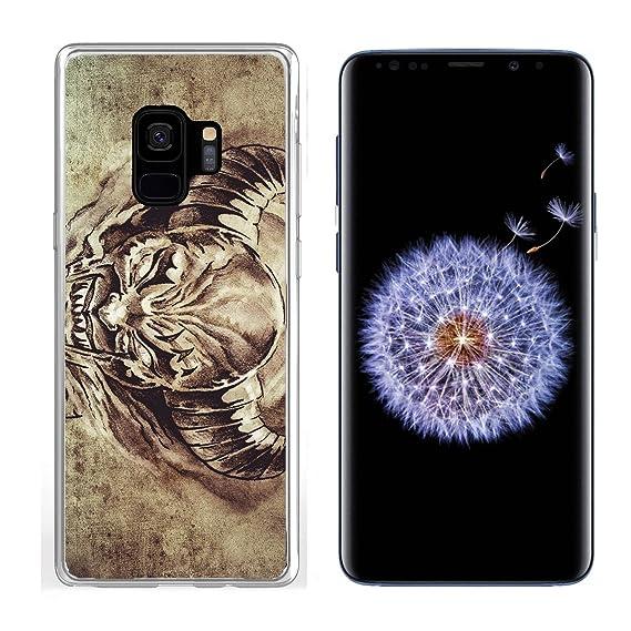 5b80e37603b28 Amazon.com: Samsung Galaxy S9 Clear case Soft TPU Rubber Silicone ...