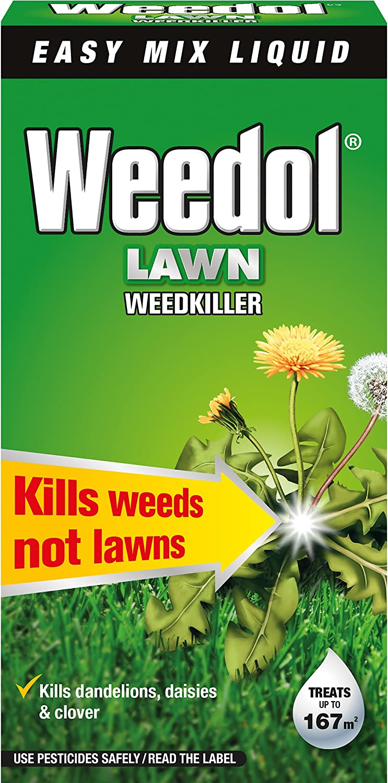 Herbicida líquido para césped Weedol, concentrado en botella, 250 ml