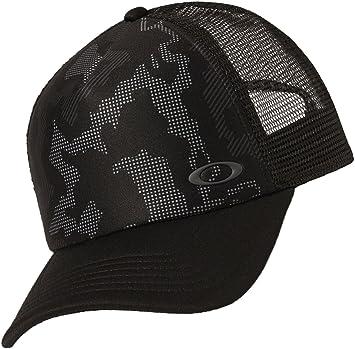 b6a76168b3f805 Oakley Men's Mesh Sublimated Trucker Update Baseball Cap, Blackout, One Size