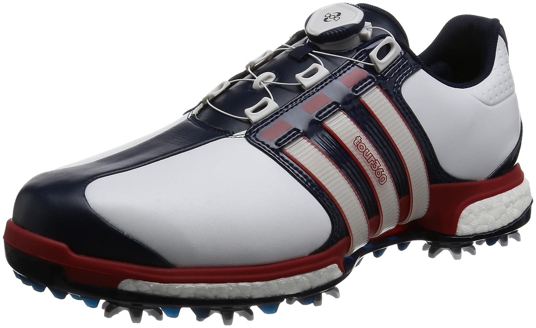 [アディダスゴルフ] ゴルフシューズ ツアー360 ボア ブースト X TOUR360 Boa boost X B06XXC1LHP 27.0 cm 3E ホワイト/パワーレッド/カレジエイトネイビー