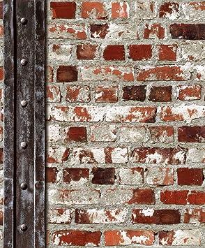 Ugepa J71508 Inhibitor Papier Peint Motif Briques Rouge Brique Rouge