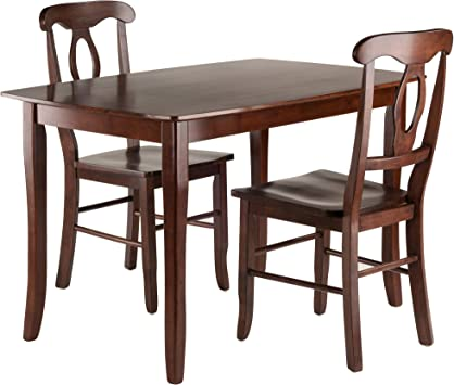 Winsome Wood Groveland Square Dining Table with 2 Chairs 3-Piece