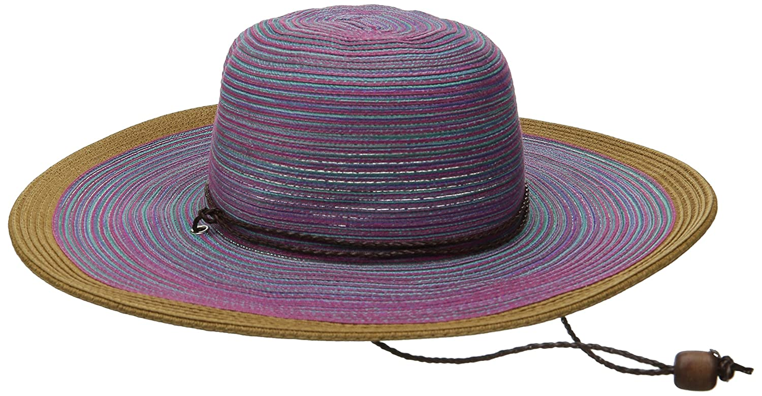 a19d8138 San Diego Hat Company Women's 4-Inch Brim Mixed Braid Sun Brim Hat with Adjustable  Chin Cord, Purple, One Size: Amazon.ca: Clothing & Accessories