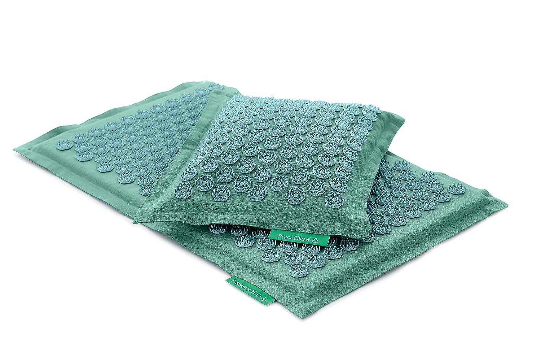Set - 2 unidades: Pranamat ECO + PranaPillow, La esterilla y la almohada de masaje terapéutico (Turquesa/Turquesa): Amazon.es: Salud y cuidado personal