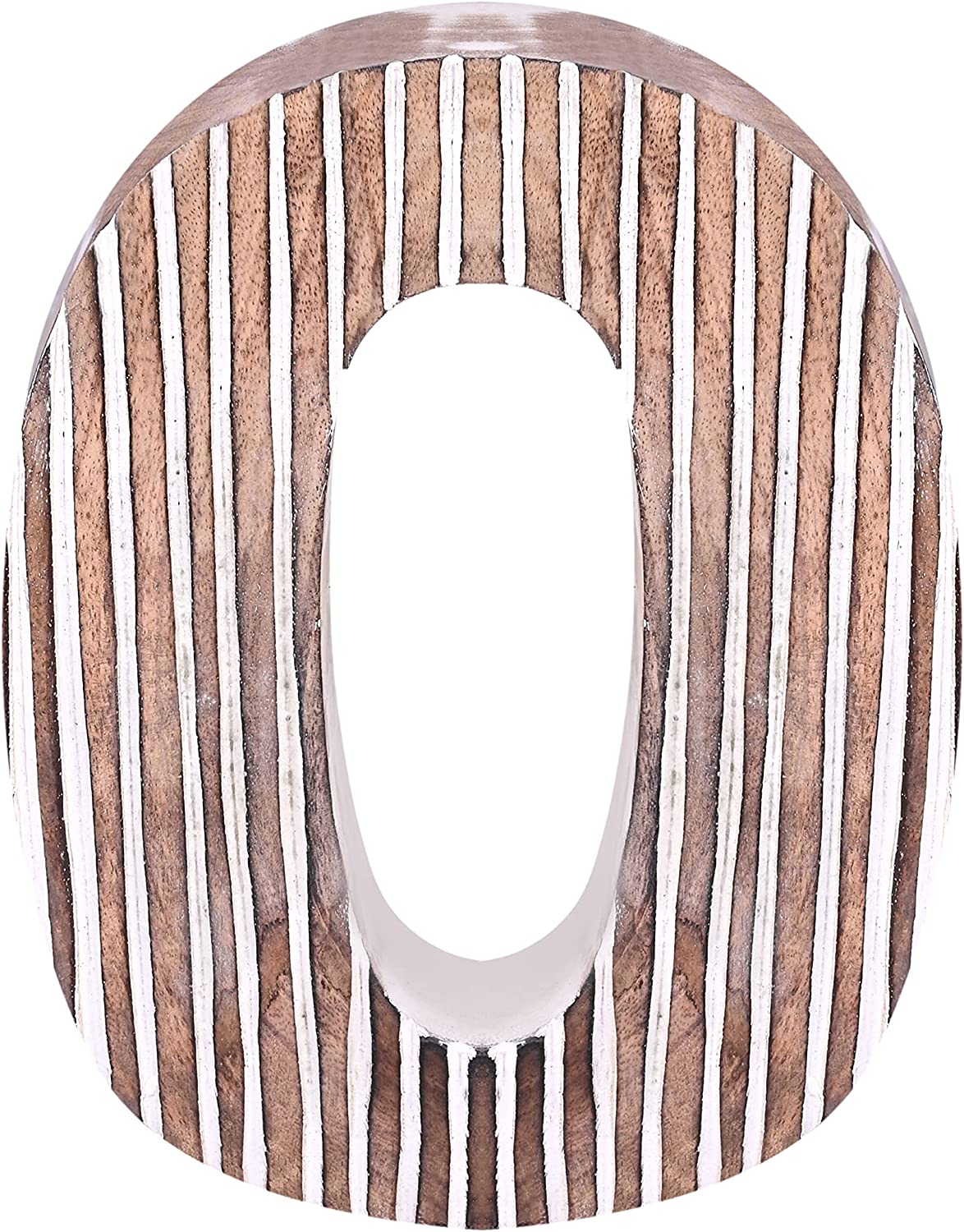 Decorative Wooden Number 0   Standing and Hanging Wooden Number Block for Wall Decor   Shabby Chic Wood Number Letter for Wall Table   Marquee Number Sign for Home Bedroom Birthday Housewarming Party